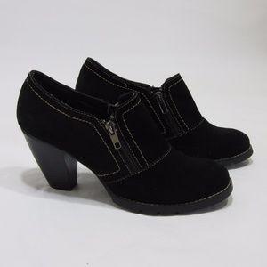 Ruff Hewn Suede Mule Ankle Booties Black *S18