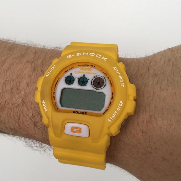 Bathing Ape Bape Yellow G Shock Watch