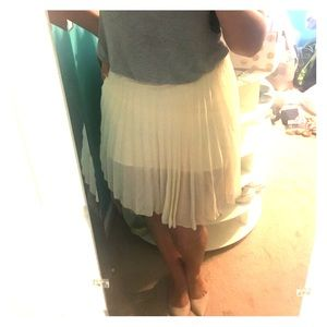 Blush pleated skirt from ASOS