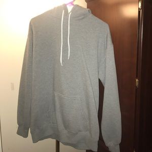Size Medium Hooded light Gray Sweater