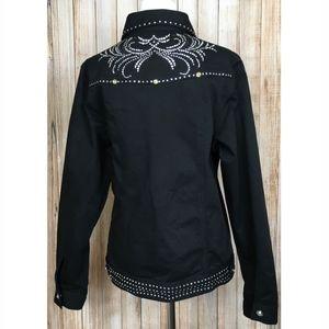 Wrangler rhinestone western denim jacket