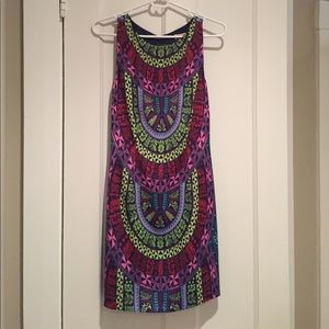 Backless multicolored dress