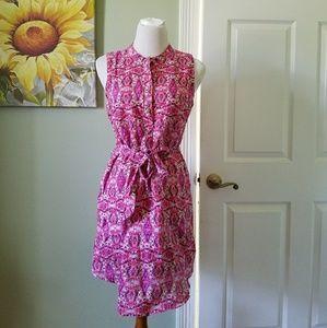 Lenin Patterned Tie Waist Dress 6