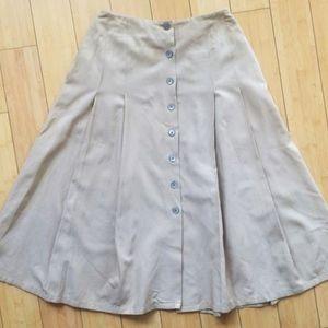DKNY Pleated Silk/Cotton skirt
