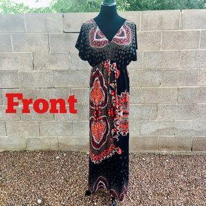 Charming Charlie Bohemian Maxi Dress Flawless 🖤