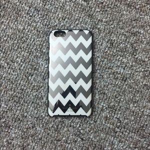 iPhone 6 Plus Kate Spade Chevron Black White Case