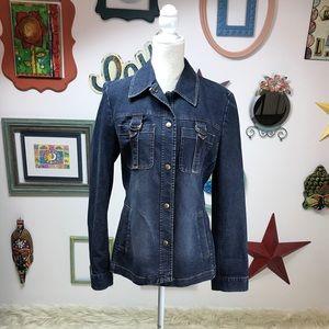 MICHAEL KORS Women's Denim Jean Shirt Jacket