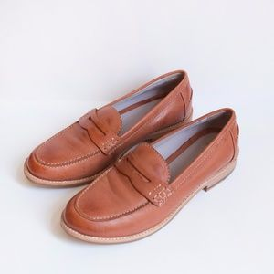 Johnston & Murphy Brown Leather Penny Loafers