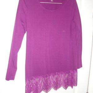 Soft Surroundings long sleeve, plum shirt