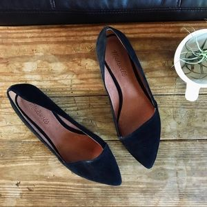 Madewell Pointed Black Mira Flats