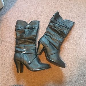 Rampage black heeled boots