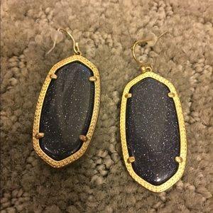 Kendra Scott blue/purple sparkle earrings