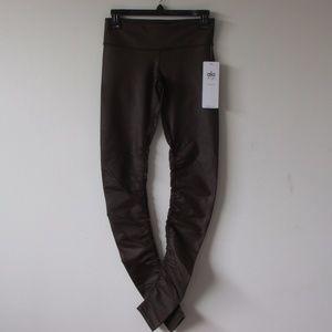 ALO YOGA Idol Legging - Chocolate Brown Glossy NEW