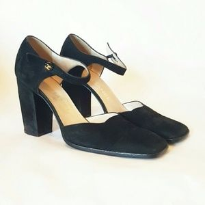 CHANEL 38 MADE IN ITALY 7.5 heels mary janes