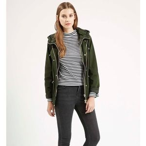 Topshop double zip lightweight jacket