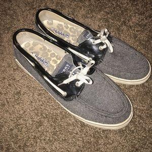 Gray Knit Sperrys