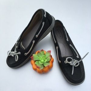Black Sperry Top Sider Shoes Size 8.5