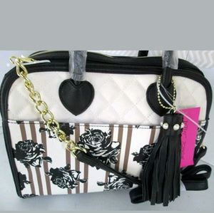 Betsey johnson tote purse floral