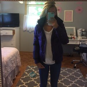 Purple Juicy Couture puffer jacket