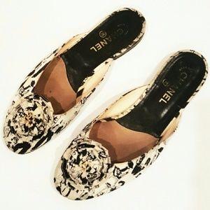 CHANEL 38 Womens shoes VINTAGE RARE SHOES PRINT