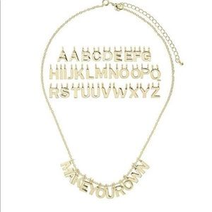 Make your own letter necklace