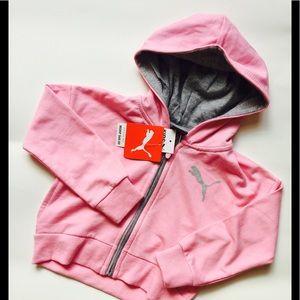 NWT Puma Pink Girls Hoodie-Size 2T