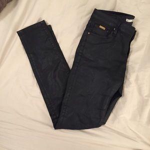 Zara coated denim jean