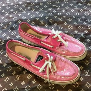 🌷Cute pink sparkly Sperry shoes🌷