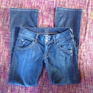 Hudson signature low rise boot cut flap jeans