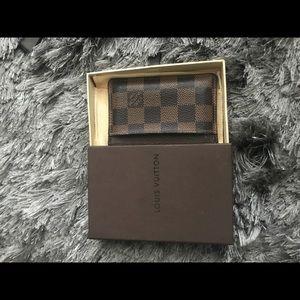 Louis Vuitton damier cardholder with box