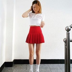 NWT red tennis skirt