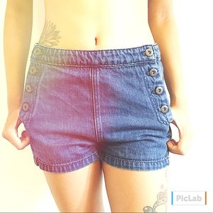 Free People High-Rise Side-Button Shorts