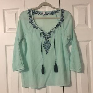 Old Navy Size M Mint Green Top