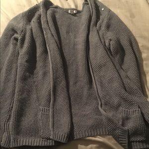 Size XXL gray studded shoulder cardigan 🎀