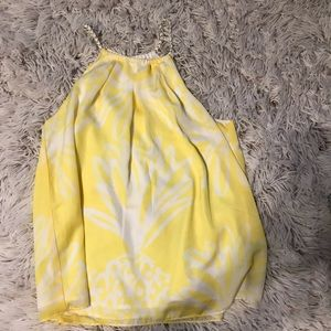 Lilly Pulitzer Target Yellow Pineapple Top