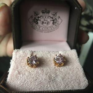 Juicy Couture pink stone earrings