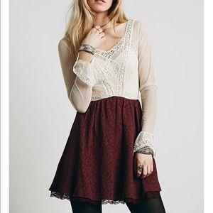Free People Victoria Lace Mini Dress