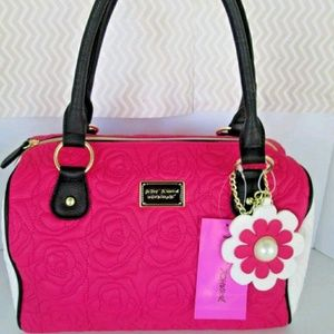 Betsey johnson tote purse new w/charm