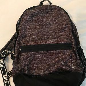 VS PINK grey backpack