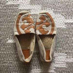 Tory Burch leather and jute espadrilles