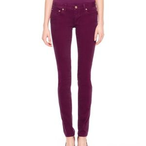 Tory Burch Ivy super skinny jeans purple 27