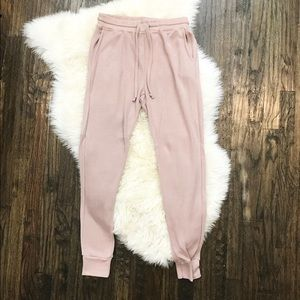 Cute Joggers With Drawstring and Pockets, Blush