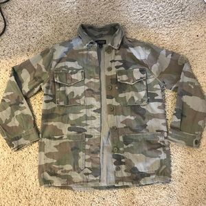 Top shop camo jacket
