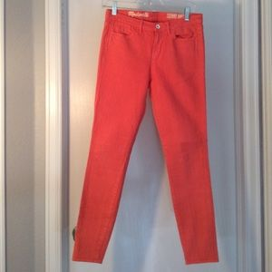 Madewell Coral Skinny Ankle Size 25 Jeans