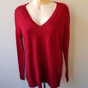 NWT 100% Merino Wool Cranberry Red Sweater