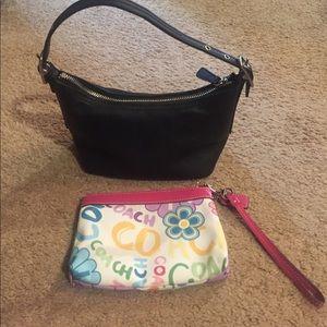 Coach mini bag and wristlet