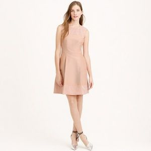 J. Crew Perforated A-line Dress Dusty Blossom
