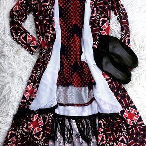 Lularoe 3 piece outfit Aztec Sarah Monroe classic