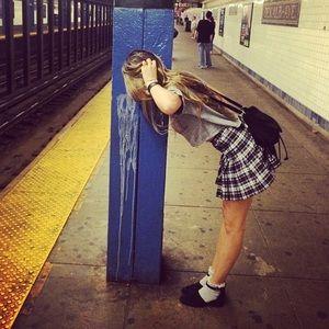 American Apparel Plaid Skirt