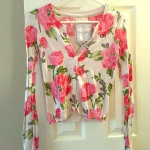 Gilly Hicks flower print cardigan (small)